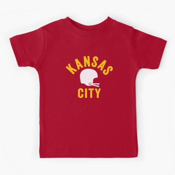 KC Face mask Kansas City facemask KC Football Helmet Kansas City Red Kingdom Kc 2020 Sports Fan Classic Champions Kids T-Shirt