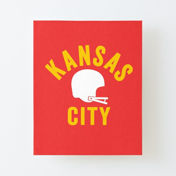 KC Face mask Kansas City facemask KC Football Helmet Kansas City Red Kingdom Kc 2020 Sports Fan Classic Champions Canvas Mounted Print