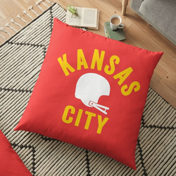 KC Face mask Kansas City facemask KC Football Helmet Kansas City Red Kingdom Kc 2020 Sports Fan Classic Champions Floor Pillow