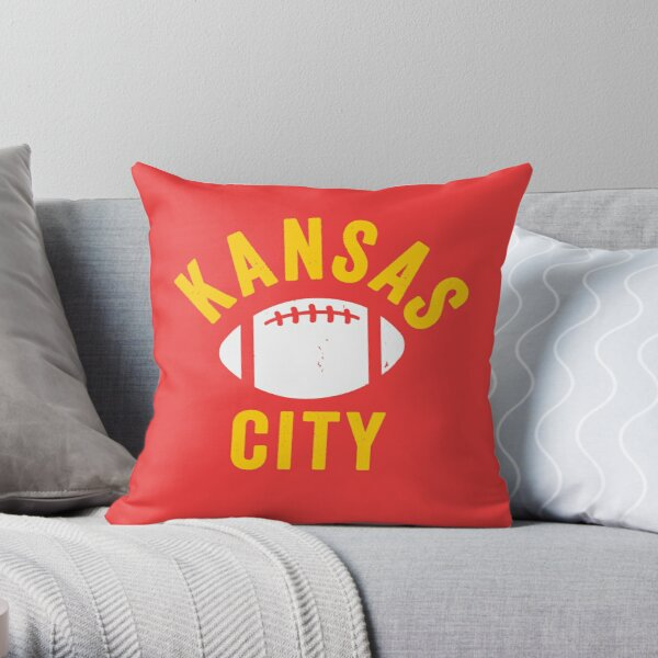 KC Face mask Kansas City facemask Mask KC Football Mask Kansas City Red Yellow Kingdom Kc 2020 Sports Fan Championship Classic Throw Pillow