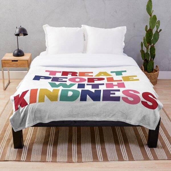 Rainbow Treat People With Kindness Throw Blanket