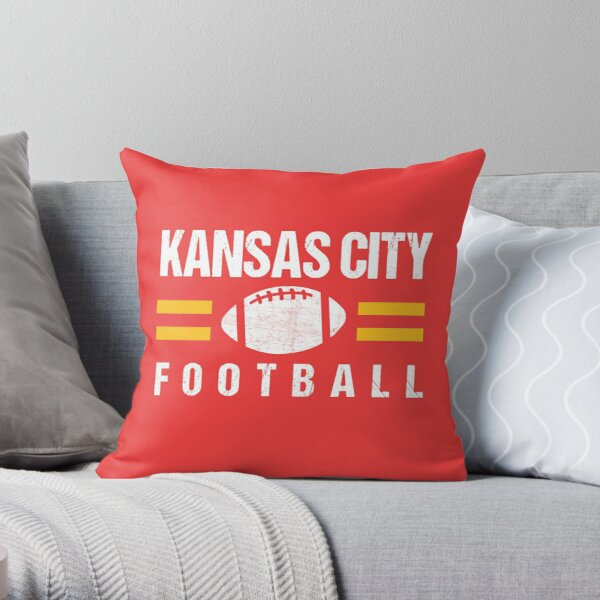 KC Kansas City Red Yellow Football Kingdom Kc 2020 Sports Fan Championship Classic Throw Pillow