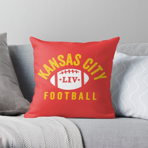 KC Face mask Kansas City facemask KC 2020 Kansas City Red Yellow Football Champions KC red Kingdom Cool 2020 Super Sports Fan Championship Classic Throw Pillow