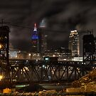 Cleveland Cityscape at Night by Mariano57