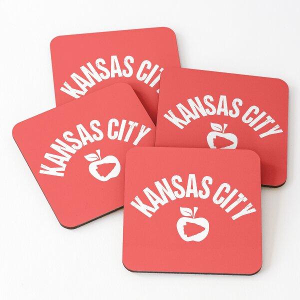 KC Face mask Kansas City facemask KC Kansas City School Teacher Kc Red Apple Arrowhead Design KC Kingdom 2020 Awesome Kansas City Teachers Gift Merchandise Coasters (Set of 4)
