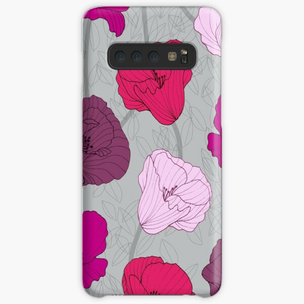 Purple Jewel Tone Hand Drawn Poppies Samsung Galaxy Snap Case