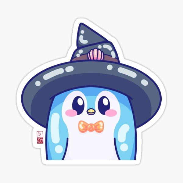 Kawaii Blue Mage Penguin Sticker