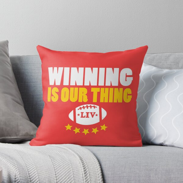 KC Face mask Kansas City facemask KC Football Kansas City 2020 Red Kingdom Kc Winning Is Our Thing 2020 Champions KC - Whats Your Thing? Throw Pillow