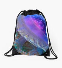 Crown Jellyfish Close Up Drawstring Bag