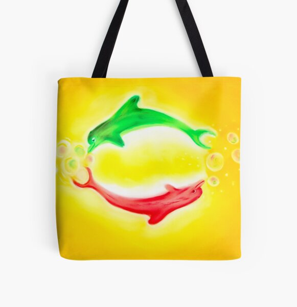 Dance of the dolphins All Over Print Tote Bag
