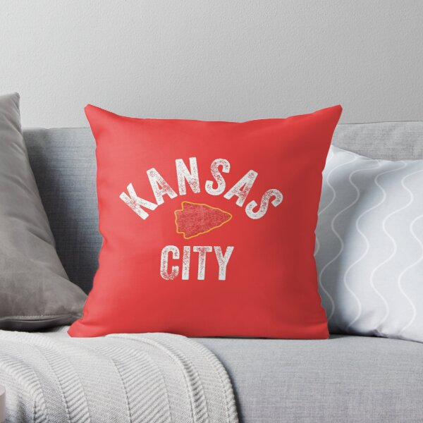 KC Football Tribal Kansas City football Vintage Red Arrowhead Kc Fan Kansas city Throw Pillow