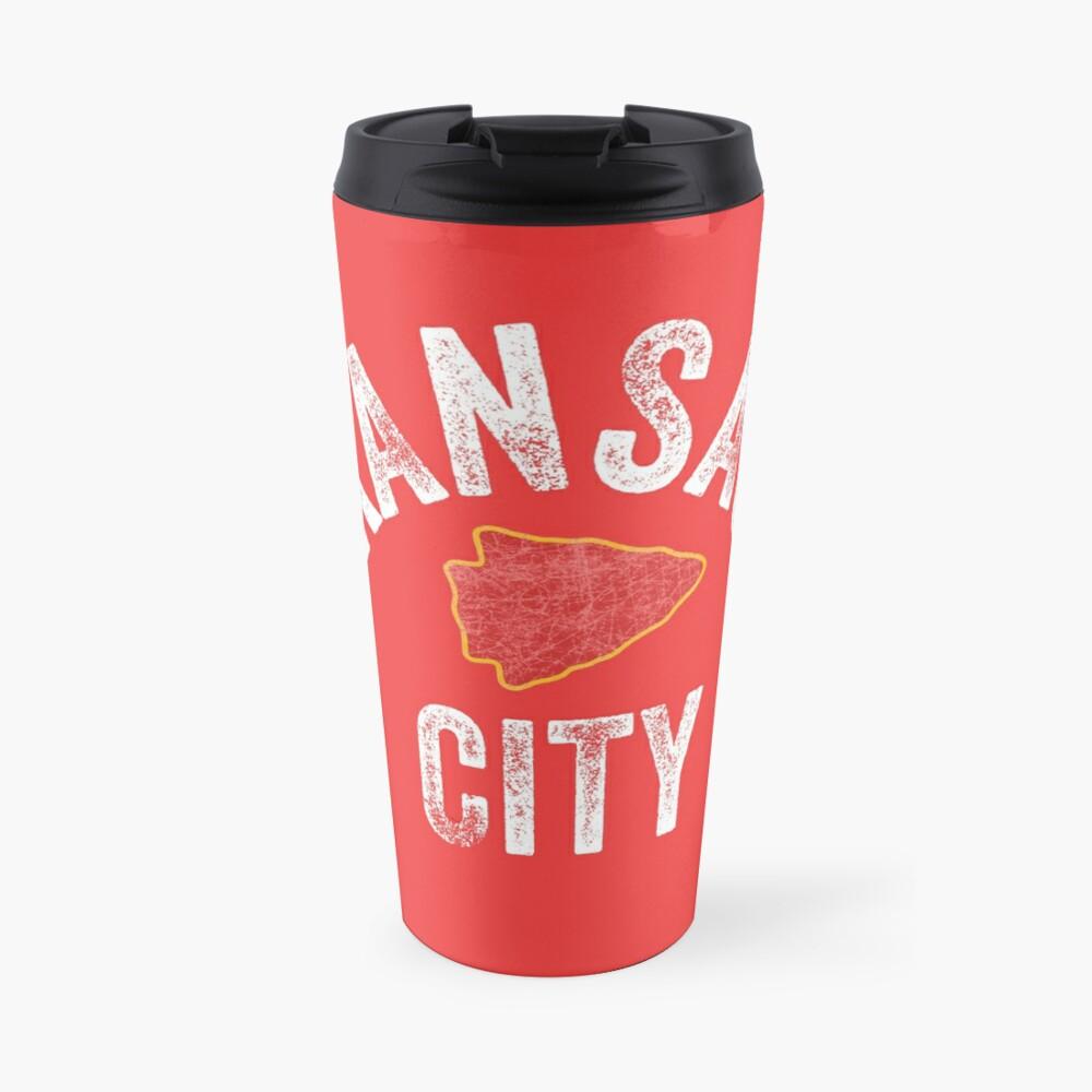 KC Football Tribal Kansas City football Vintage Red Arrowhead Kc Fan Kansas city Travel Mug