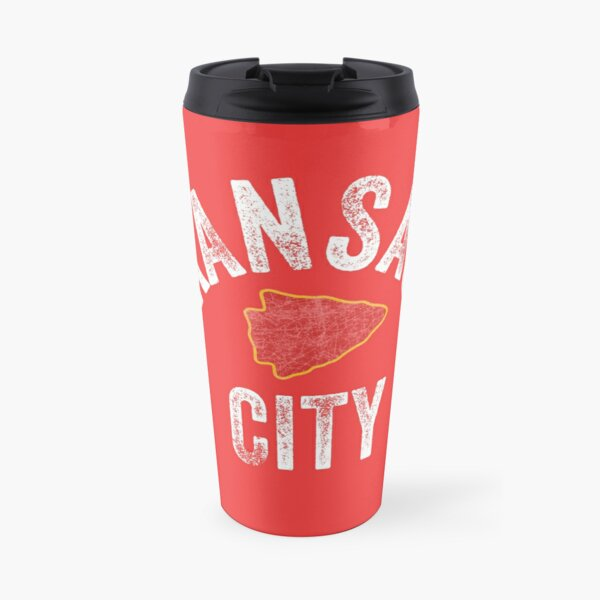 KC Football Tribal Kansas City football Vintage Red Arrowhead Kc Fan Kansas city Travel Mug