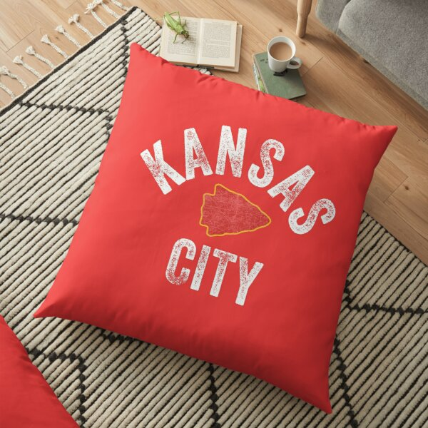 KC Football Tribal Kansas City football Vintage Red Arrowhead Kc Fan Kansas city Floor Pillow