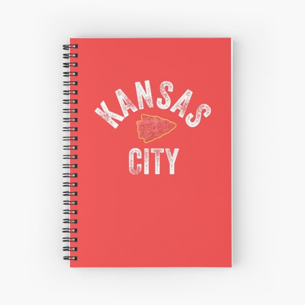 KC Football Tribal Kansas City football Vintage Red Arrowhead Kc Fan Kansas city Spiral Notebook