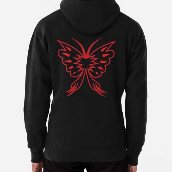 The Crimson Butterfly Pullover Hoodie
