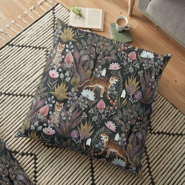 Moody jungle Floor Pillow