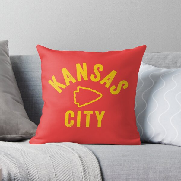 KC Face mask Kansas City facemask KC Mask Kansas City Arrowhead Red Kingdom Kc 2020 Sports Fan Classic Champions Throw Pillow