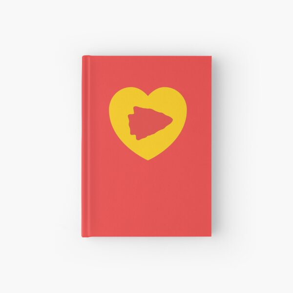 KC Face mask Kansas City facemask KC Kansas City Heart Red Yellow KC Kingdom Kc Hearts Love Letter Football Sports Fan 2020 Valentine Hardcover Journal