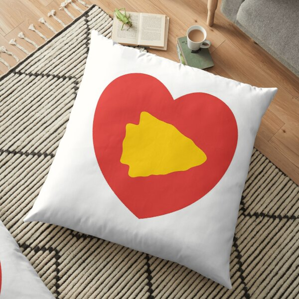 KC Face mask Kansas City facemask KC Kansas City Heart Red Yellow Kc Kingdom KC Hearts Love Letters Football Sports Fan 2020 Valentine Floor Pillow