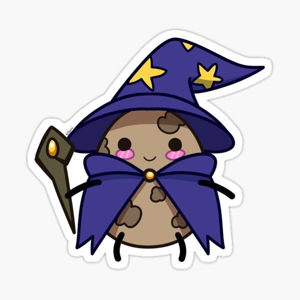 Cute Potato Wizard Sticker