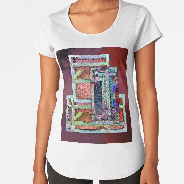Final Barrier - Abstract Digital Painting Wall Art Original Geometric Painting Premium Scoop T-Shirt