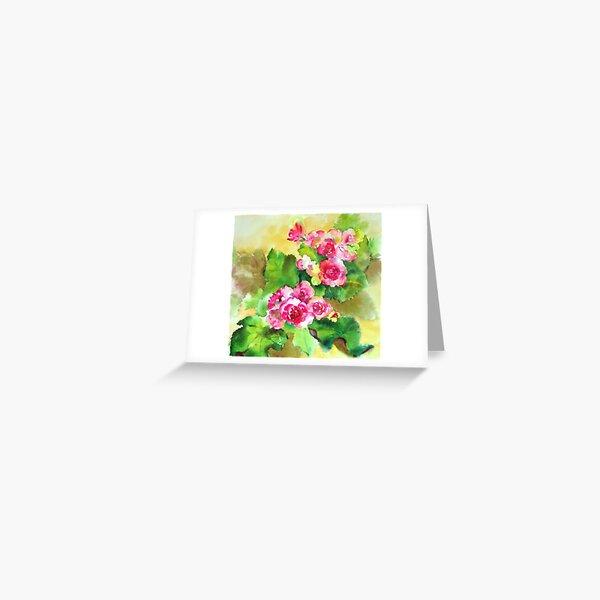 Begonia Greeting Card