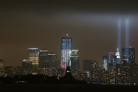 new york city tribute in light; 9/11/2011 by Kevin Koepke