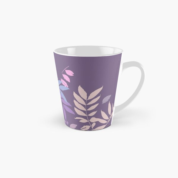 Plum Pastel Leaves 2020 Tall Mug