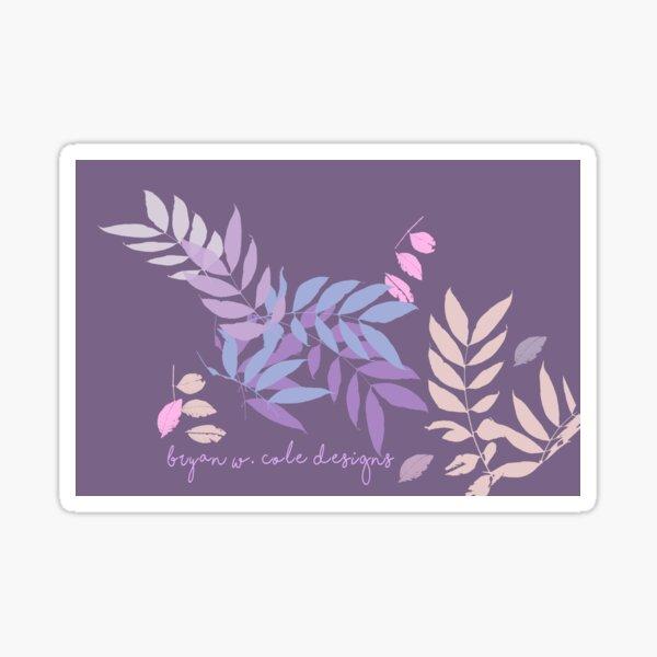 Plum Pastel Leaves 2020 Sticker