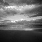 The Storm is Coming B&W - Bateau Bay Beach by Jacob Jackson