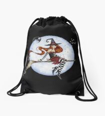 Moonlight Ride Drawstring Bag