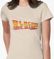 Black to the future Women's Fitted T-Shirt
