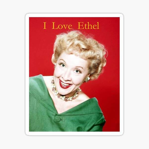 Vivian Vance I Love  Ethel  Sticker