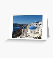 The Greek Island Santorini Greeting Card