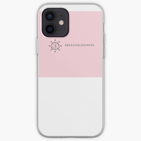 Telefoonhoesje met #Baasvanjedenken logo hard plastic iPhone Soft Case