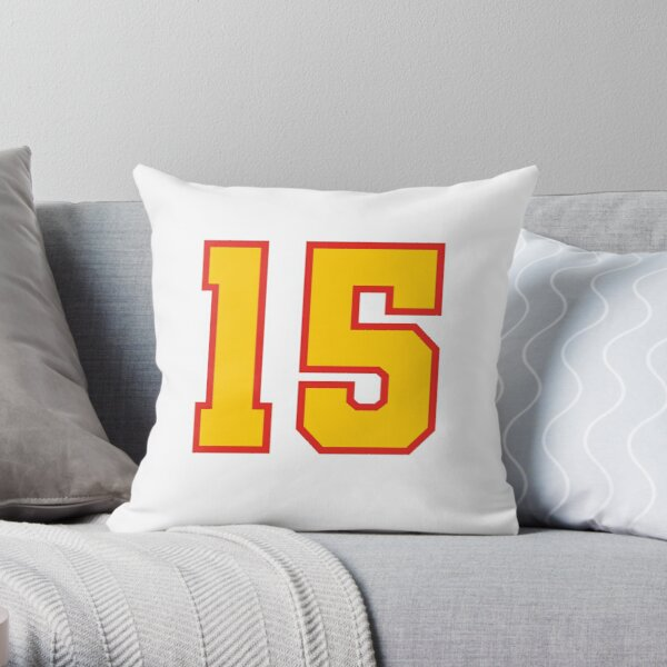 KC Face mask Kansas City facemask 15 Mask KC Kansas City 15 Red Showtime and KC Yellow KC Champions 2020  Throw Pillow