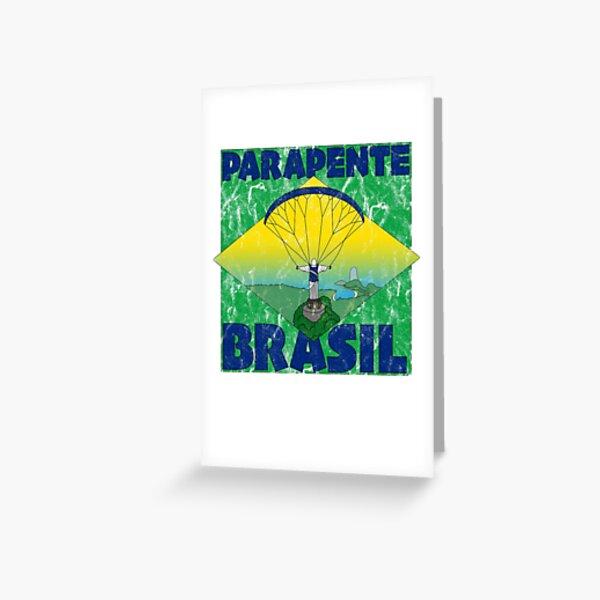 Parapente Brasil - Parapente Brésil - Grunge Carte de vœux