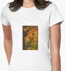 Fall Leaves iPhone case Womens Fitted T-Shirt