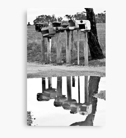 A reflection of the news Canvas Print