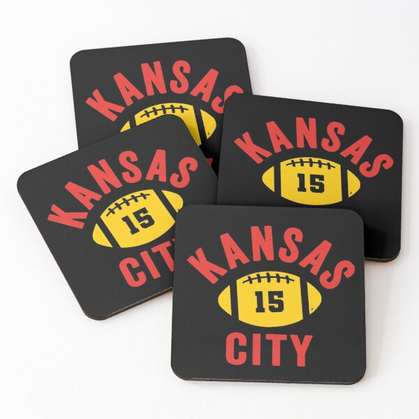 KC 15 Showtime Kansas City 15 Red Showtime and KC Yellow KC Champions 2020  Coasters (Set of 4)