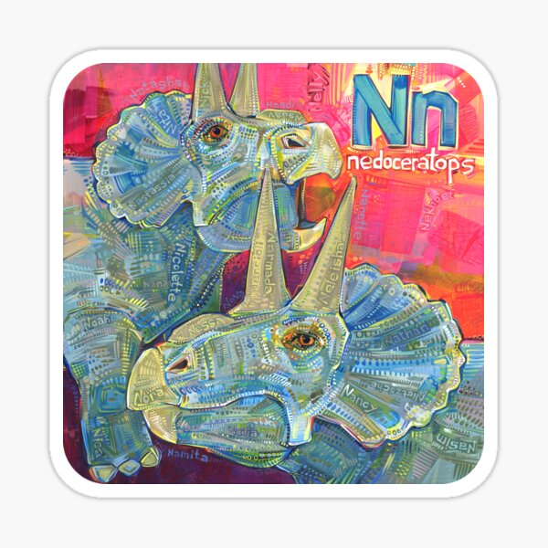N Is for Nedoceratops - 2020 Sticker