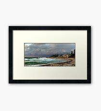 """Stormy Cottesloe Sunset"" Cottesloe Beach, Western Australia Framed Print"