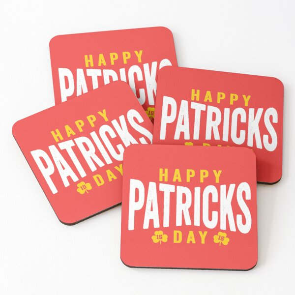 KC 15 Patrick's Day St Patrick's Day Showtime Kansas City 15 Red Showtime and KC Yellow KC Champions 2020  Coasters (Set of 4)