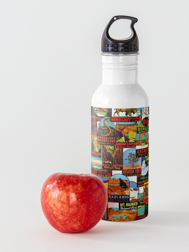 Alternate view of American National Parks Vintage Travel Decal Bomb Water Bottle