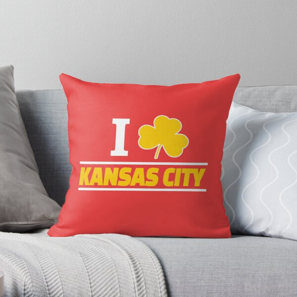 KC Patrick St Patrick's Day Kansas City Red Yellow KC 2020 Irish Throw Pillow