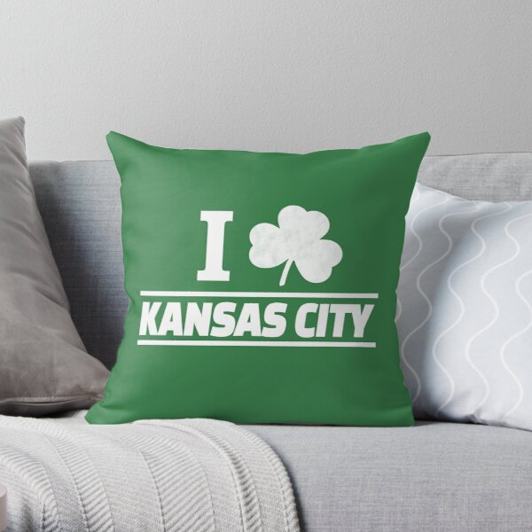 Kansas City KC Patrick St Patricks Day Kansas City Red Yellow KC 2020 Irish Throw Pillow