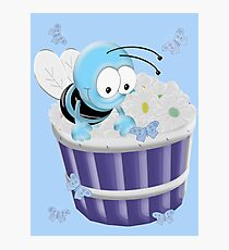 Busy Little Bee .. tee shirt Photographic Print