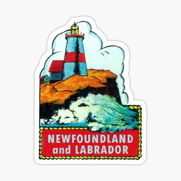 Newfoundland and Labrador Canada Vintage Travel Decal Sticker