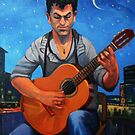 The Guitar Player by Guntis Jansons